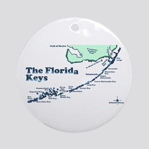 Florida Keys - Map Design. Ornament (Round)